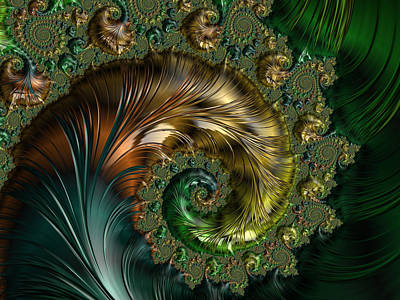 Ornamental Shell Abstract Art Print