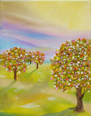 Painting - Ornamental Trees by Judith Rhue