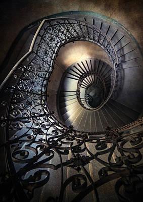 Mystery Door Photograph - Ornamented Spirals by Jaroslaw Blaminsky