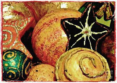 Hand Crafted Photograph - Ornaments 2 Card 1 by Sarah Loft