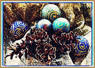 Wine Corks - Ornaments 6 Card 2 by Sarah Loft