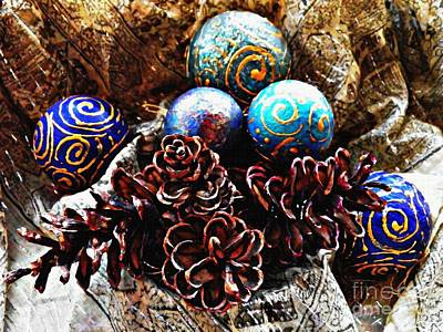 Pine Cones Photograph - Ornaments 6 by Sarah Loft