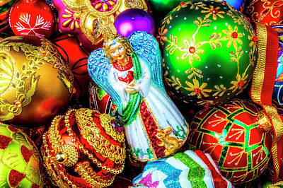 Photograph - Ornaments And Angel by Garry Gay