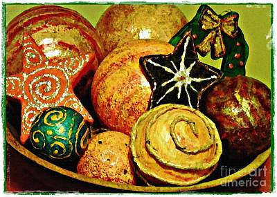 Hand Crafted Photograph - Ornaments Card 2 by Sarah Loft