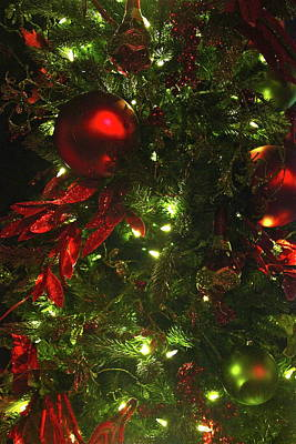 Photograph - Ornaments On The Christmas Tree by Denise Mazzocco