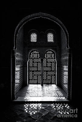 Palace Photograph - Ornate Alhambra Window by Jane Rix
