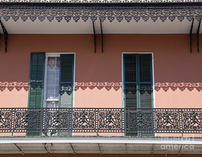 Photograph - Ornate Balcony In New Orleans by Louise Heusinkveld