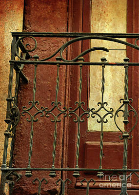 Photograph - Ornate Balcony With Textures And Light by Carol Groenen