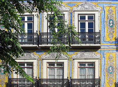 Photograph - Ornate Building Facade In Lisbon Portugal by Carla Parris