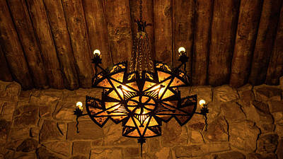 Photograph - Ornate Chandelier North Rim Grand Canyon Arizona by Lawrence S Richardson Jr