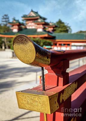Ornate Details O Heian Jingu Shrine In Kyoto Art Print