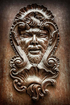 Medieval Entrance Photograph - Ornate Door Knocker In Valencia  by Carol Japp