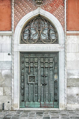 Photograph - Ornate Door Venice by Christopher Rees