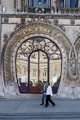 Photograph - Ornate Doorway In Lisbon  by Carl Purcell