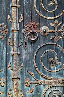 Photograph - Ornate Gothic Door by Tim Gainey