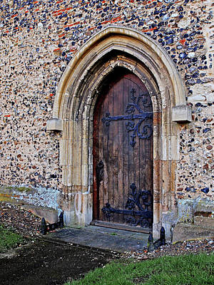 Photograph - Ornate Hinges On Ancient Church Door by Gill Billington