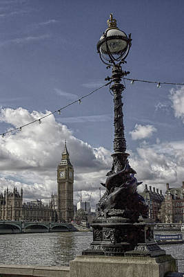 Photograph - Ornate Lamp And Parliament, London by Christopher Rees
