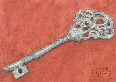 Painting - Ornate Mansion Key by Ken Powers