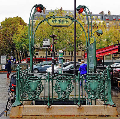 Photograph - Ornate Metro Entrance In Paris, France by Richard Rosenshein