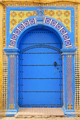 Moroccan Photograph - Ornate Moroccan Doorway, Essaouira, Morocco, Middle East, North Africa, Africa by Andrea Thompson Photography