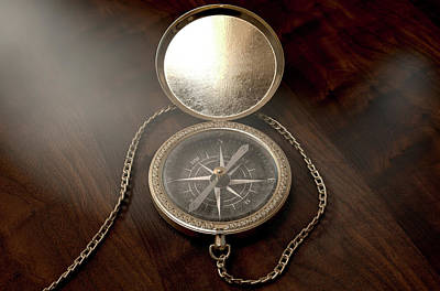 Searching Digital Art - Ornate Pocket Compass by Allan Swart