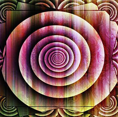 Ornate Mixed Media - Ornate Shell Abstract Wall Art by Georgiana Romanovna