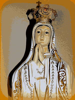 Digital Art - Ornate Virgin Mary by Ed Weidman