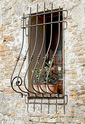 Photograph - Ornate Window Grill Cetona by Dorothy Berry-Lound