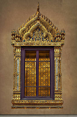 Photograph - Ornate Window by Maria Coulson