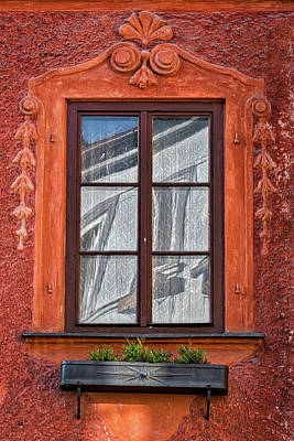 Photograph - Ornate Window Reflection - Czechia by Stuart Litoff