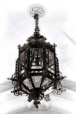 Photograph - Ornate Wrought-iron Entrance Lantern Habsburg Vienna by Menega Sabidussi