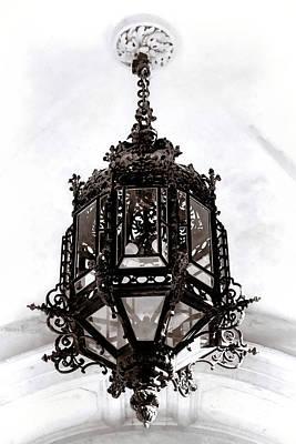 Photograph - Ornate Wrought-iron Entrance Lantern Habsburg Vienna by Menega Sabidussi