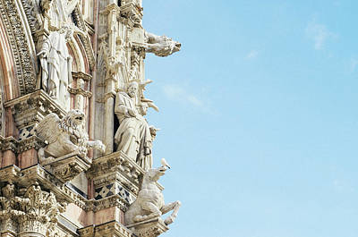 Photograph - Ornates On Siena Cathedral by Alexandre Rotenberg
