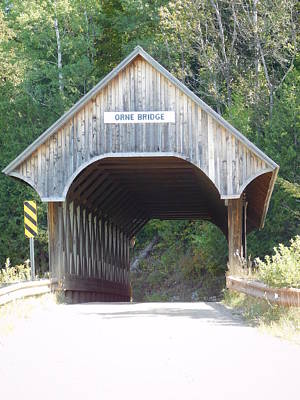 Photograph - Orne Covered Bridge In Coventry Vermont by Catherine Gagne