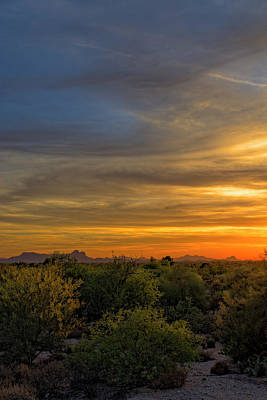 Scenic Photograph - Oro Valley Sunset V38 by Mark Myhaver
