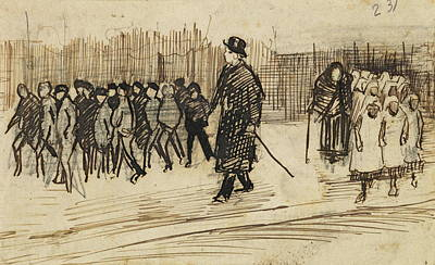Refugee Girl Painting - Orphan Boys And Girls Out For A Walk, 1882 by Vincent Van Gogh