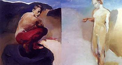 Voyageurs Painting - Orphee Et Eurydice Ou Le Voyageur Immobile by Luc Archambault
