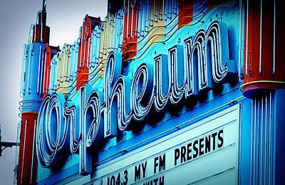 Orpheum Theater Art Print by Ariane Moshayedi