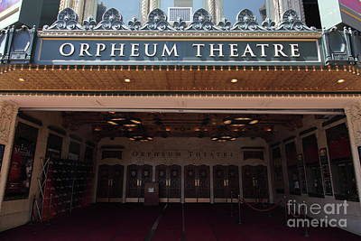 Photograph - Orpheum Theatre San Francisco California 5d17988 by San Francisco Art and Photography