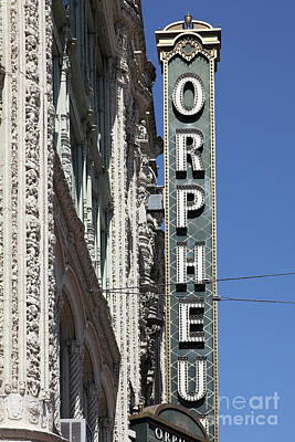 Photograph - Orpheum Theatre San Francisco California 5d17996 by San Francisco