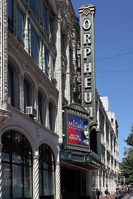 Photograph - Orpheum Theatre San Francisco California 5d17997 by San Francisco