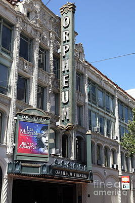 Photograph - Orpheum Theatre San Francisco California 5d18007 by San Francisco