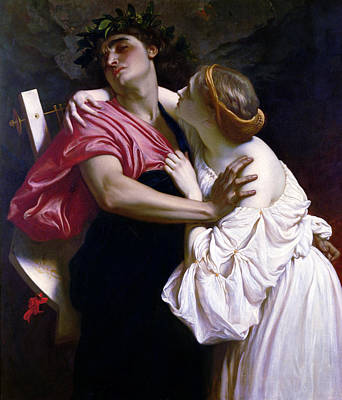 Frederic Leighton Painting - Orpheus And Euridice by Frederic Leighton