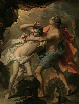 Late 18th Century Painting - Orpheus And Eurydice by Gaetano Gandolfi