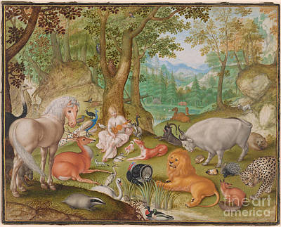 Orpheus Painting - Orpheus Charming The Animals by MotionAge Designs