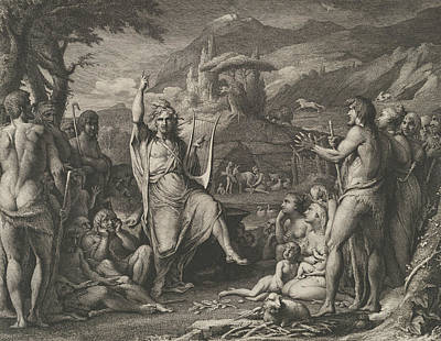 Relief - Orpheus Instructing A Savage People In Theology And The Arts Of Social Life by James Barry