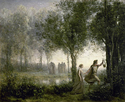Orpheus Painting - Orpheus Leading Eurydice From The Underworld by Camille Corot