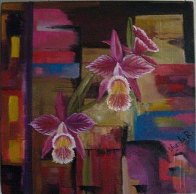 Painting - Orquideas by Shanta Rathie