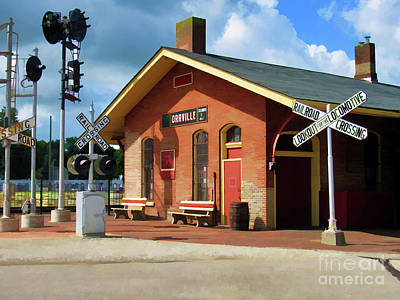 Photograph - Orrville Train Station by Roberta Byram