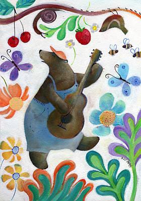 Chitarra Painting - Orso Balone - Spring by Marika Lavander